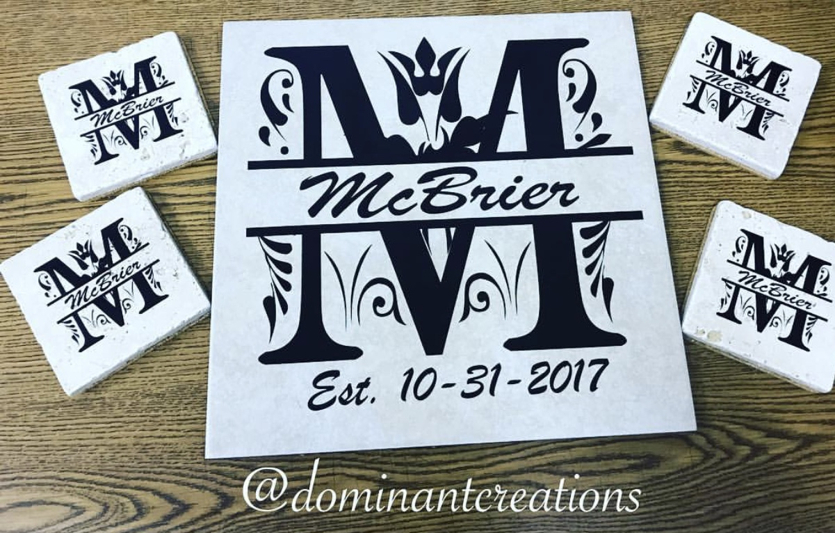 Personalized Ceramic Tile and coaster set