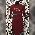 Dope AF maroon bodycon dress