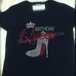 Birthday Queen Rhinestone