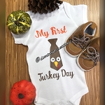 My First Turkey Day Onesie