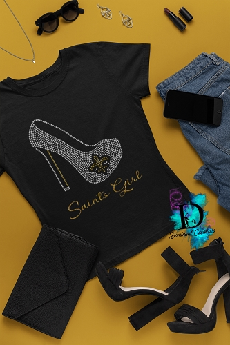 Saints Girl Rhinestone Shoe
