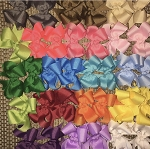 4 inch Solid Color Hair bows (includes 2 bows)