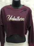 Unbothered Distress Crop Sweater