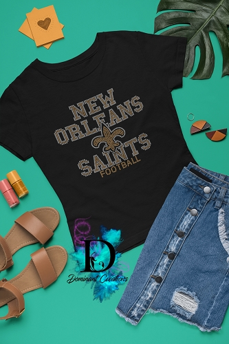 New Orleans Saints Rhinestone