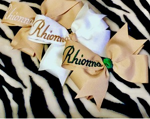 Personalized Pinwheel bows (includes 2 bows)